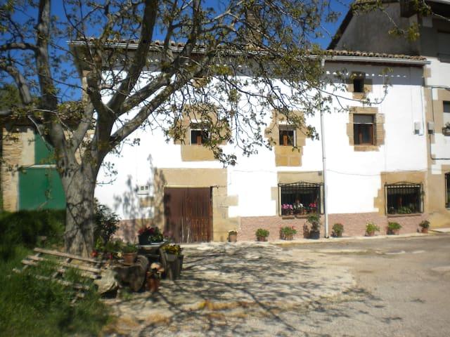 Casa con chimeneas y terraza cubierta - Legaria - Дом