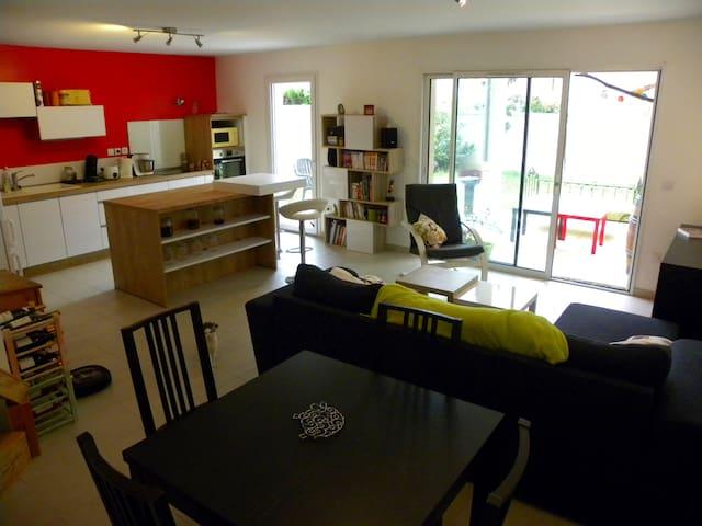 Grand appartement calme et fonctionnel avec jardin - Tain-l'Hermitage - Selveierleilighet