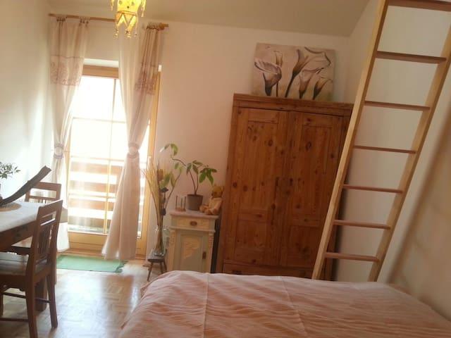 Sunny Room with Loft & Balcony - Mattsee