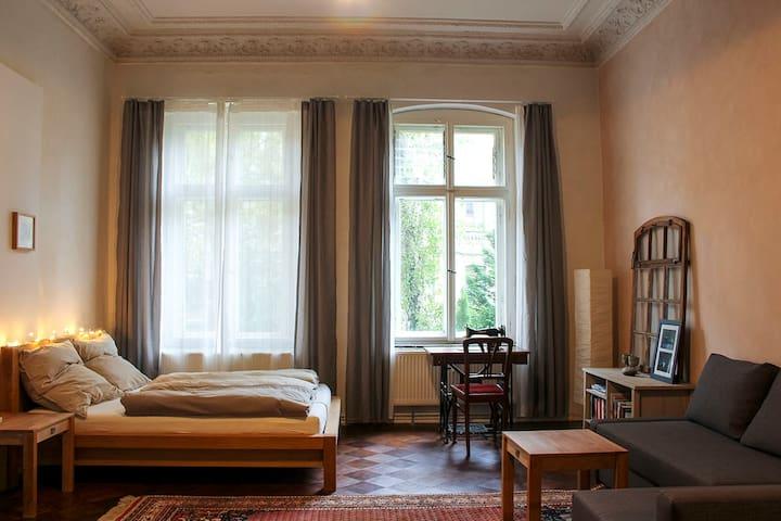 Großes Zimmer mit Küche in Gründerzeitvilla - Halle (Saale) - Appartement