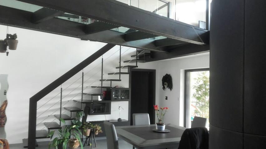 Maison moderne à la campagne - Gingsheim - Hus
