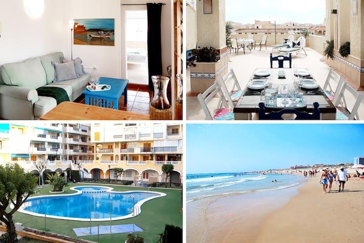 Exclusive penthouse / Rooftop / Pool / 300m beach - La Mata - Lägenhet