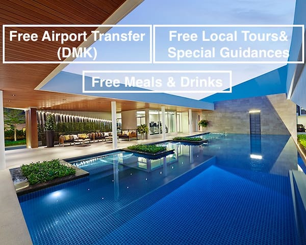 Peaceful house Free(24hrs)Ride-Don Mueang Airport - Bangkok - Huis