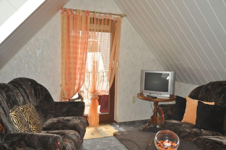 2-Raum-Wohnung, gemütlich, voll ausgestattet - Mülsen - アパート