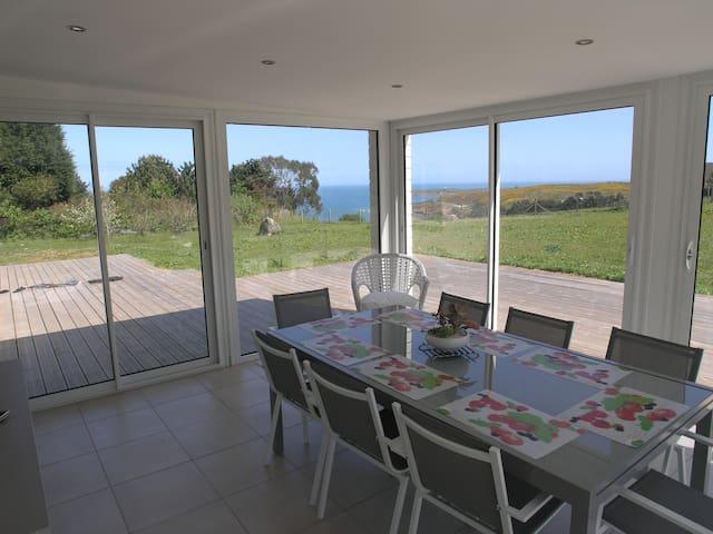 Maison avec vue sur mer - Maupertus-sur-Mer - Tatil evi