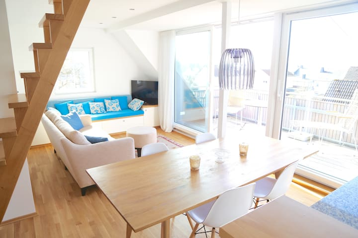 Bright holiday loft with Hunsrück panorama view - Emmelshausen - Квартира