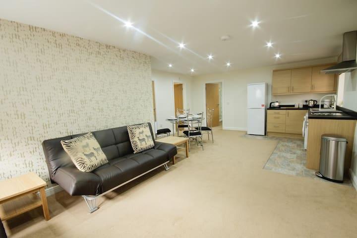 Luxury Apt close to city centre & M1/M62 motorways - Wakefield - Apartamento