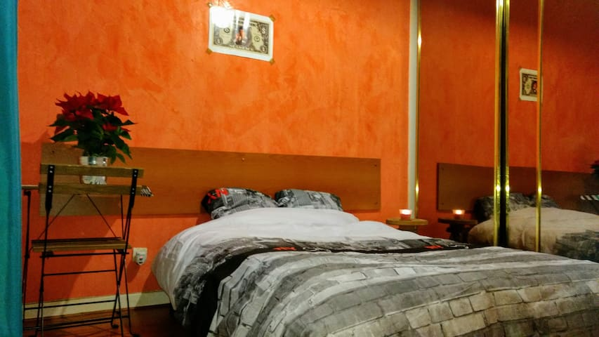 Spacious Bedroom in a shared comfy apartment - Villejuif - Casa