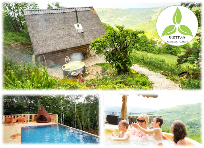 ESTIVA : Beautiful Chalet - Private Spa-Pool-View - Lapeyrugue - Rumah