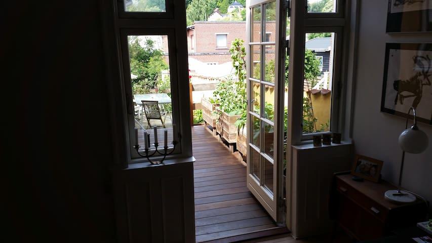 Hyggeligt byhus i forstad til Århus, værelse 2 - Odder - Leilighet
