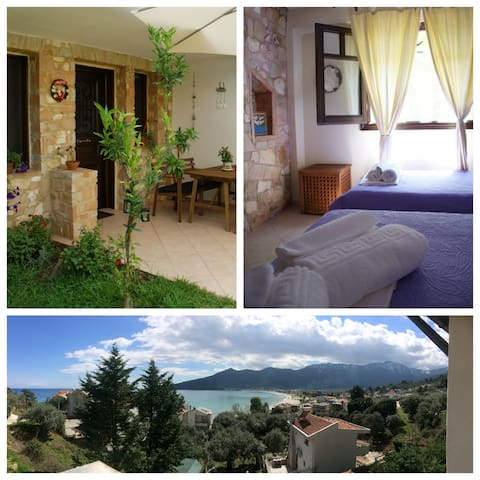 Family-friendly,close to best beach (150 meters) - Thasos - Daire