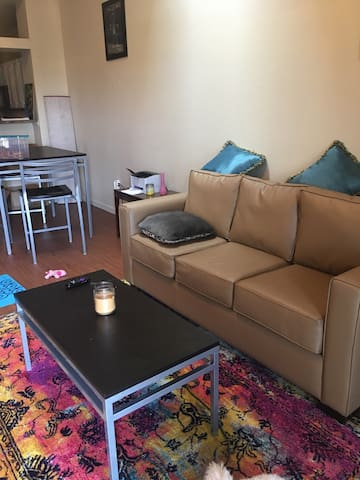 Cozy art space with skylight - Muncie - Appartement