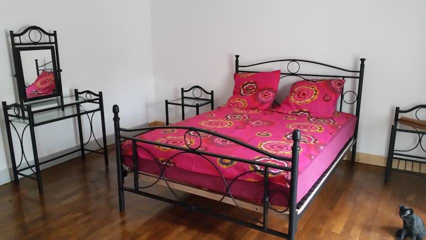 Grande chambre dans maison de village - Frontenay - Huis
