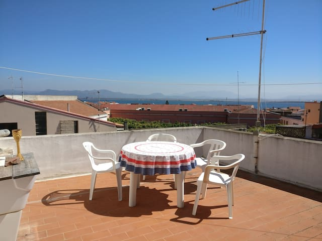 Lovely flat with beautiful view over the laguna. - Sant'Antioco - Apartamento