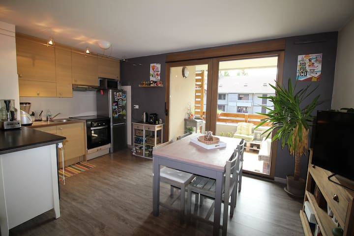 Appartement 42m² vue Mont-Blanc - Sallanches - Apartemen