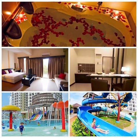 Studio Jacuzzi Bayou Lagoon Resort - Melaka - Lyxvåning