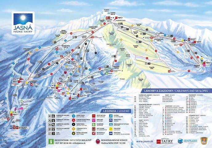 Ski apartmán CHOPOK JASNA - Demänovská Dolina - Apartemen