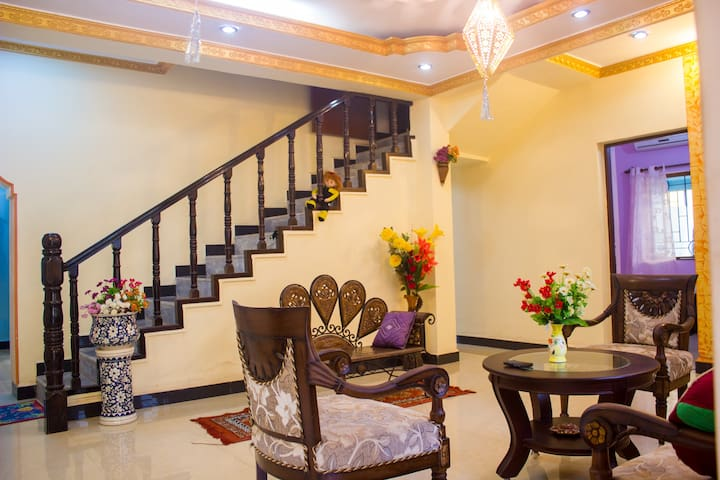 2BHK decent apartment for peaceful long/short stay
