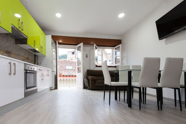 Duplex familiar con calefaccion y desayuno - Ribadavia