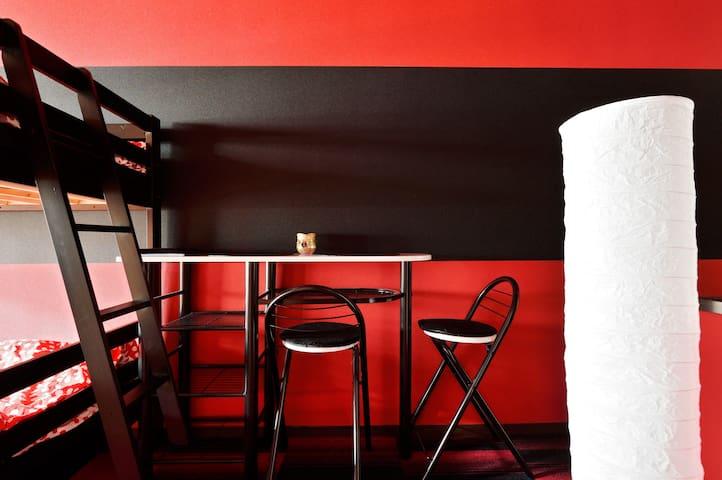Namba 3ppl rojo / negro de moda! - Osaka - Bed & Breakfast
