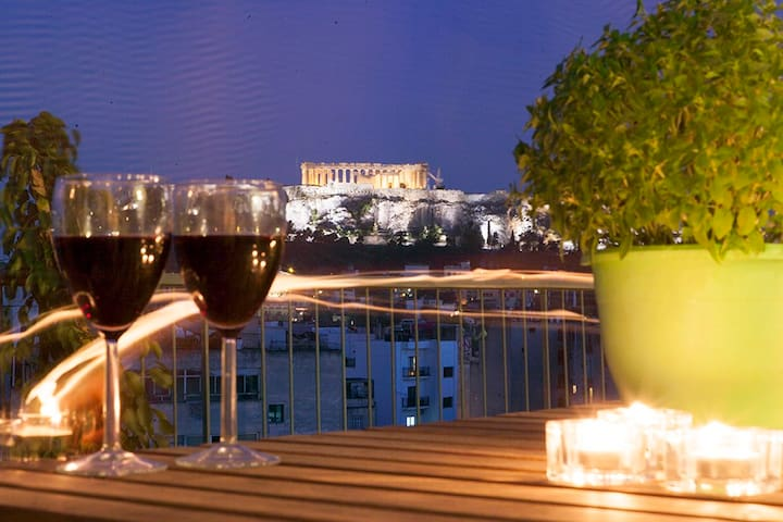 "NEW!!Acropolis view..Athens 360""..2min from Metro! - Atina - Daire"