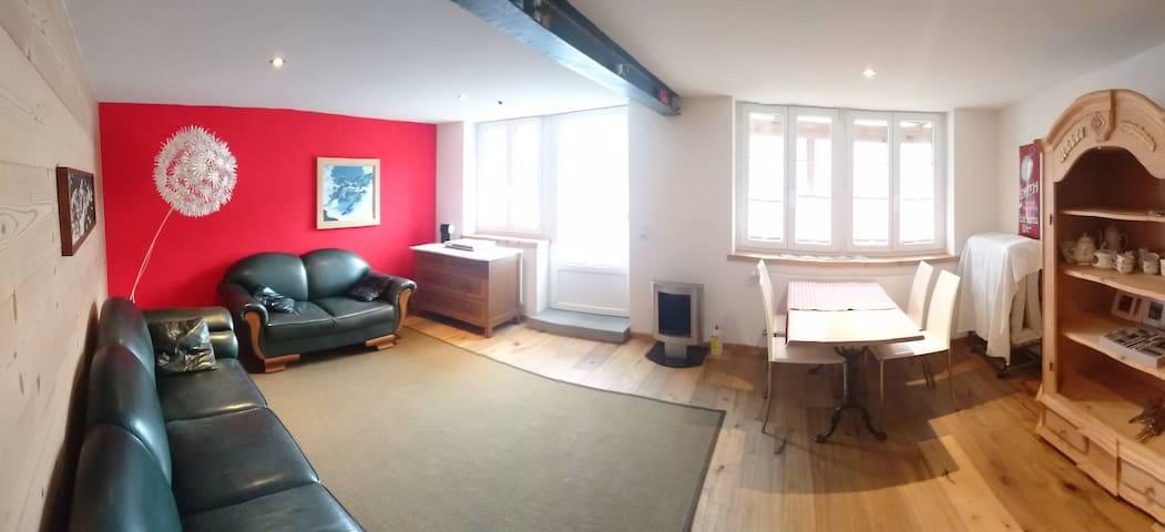 Neue 2,5-Zimmer Wohnung mit Gartensitzplatz - Schwanden bei Brienz - Lägenhet