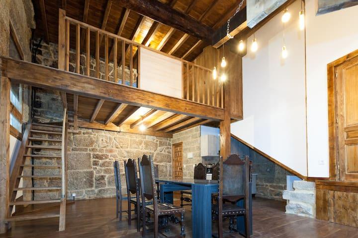 Apartamento medieval con desayuno de panadería - Ribadavia - Apartament