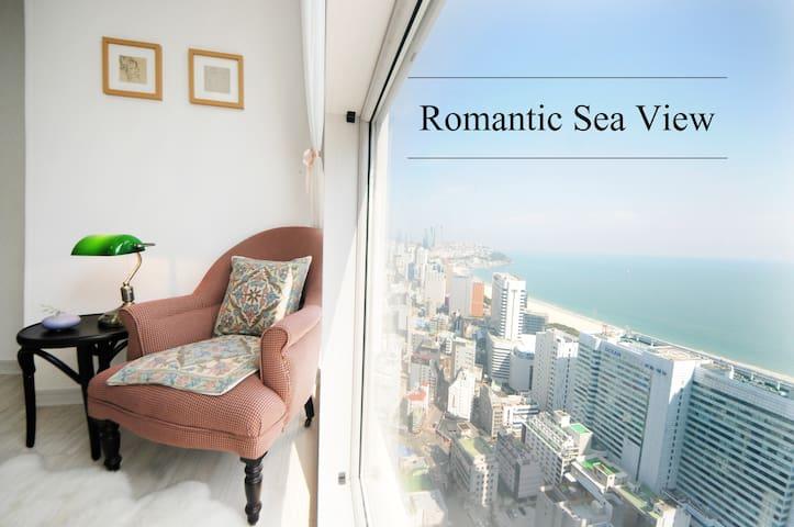 Romantic Sea View, beach 5 minute , Cozy house ^_^ - Haeundae-gu - Apartemen