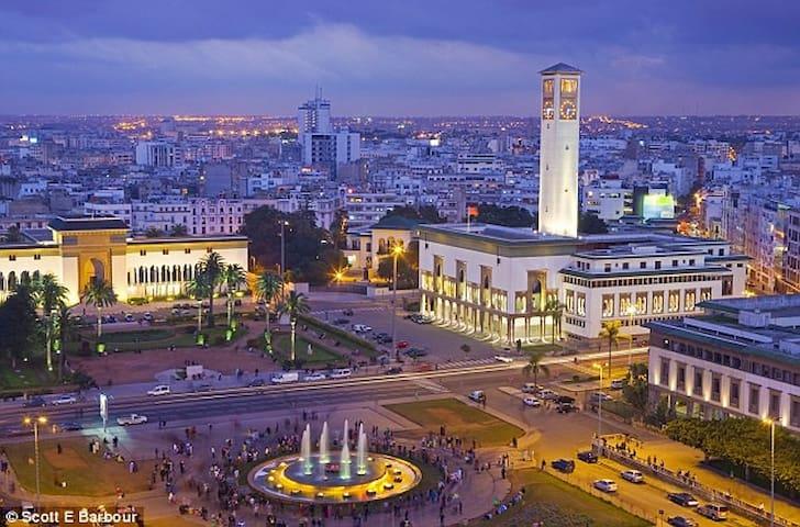 Chambre avec terrasse privée centre ville - Casablanca - Appartement