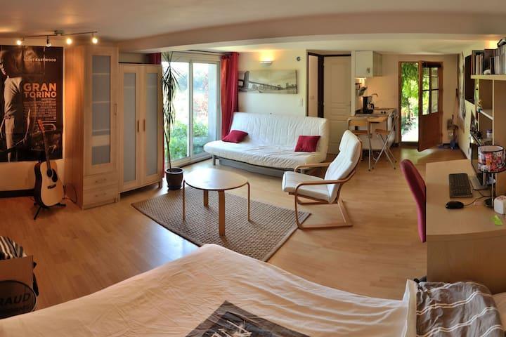 Studio, terrasse, histoire, nature. - Dargoire - Casa