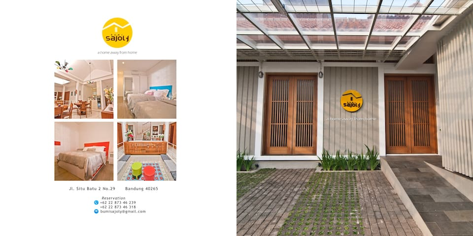 Bumi Sajoly - A Home Away From Home - Bandung - Hus