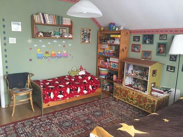 Two-person + kid bedroom in cosy familyhouse - Świdnica - Casa