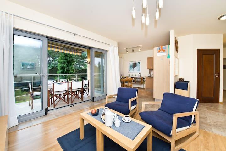 Lux Apt @bay, view w.Garden+Terrace - Jurata - Departamento
