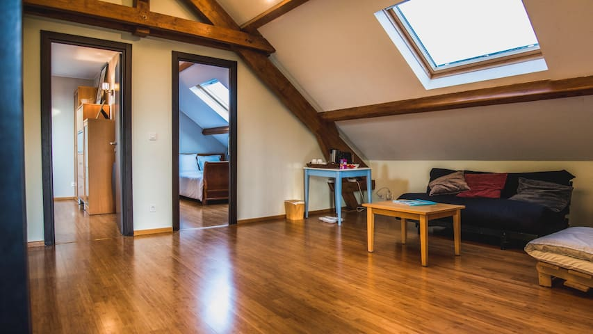 Chambre privée en étage séparé - Yutz - Rumah