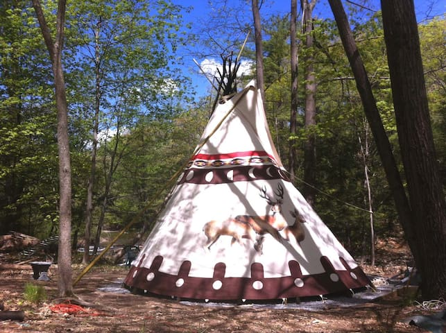 Sioux Tipi on the Waterfall - 伍德斯托克 - 圓錐形帳篷