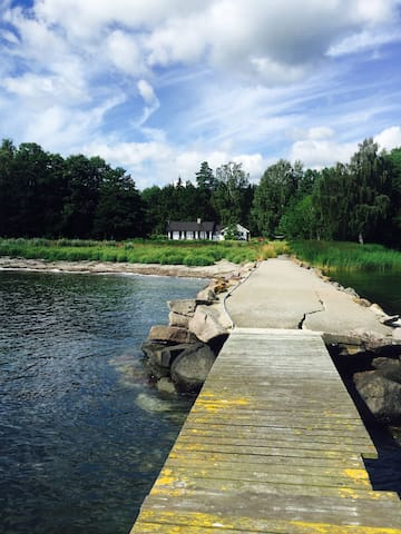 Magical oasis on the water in the woods! - Horten - Cabana