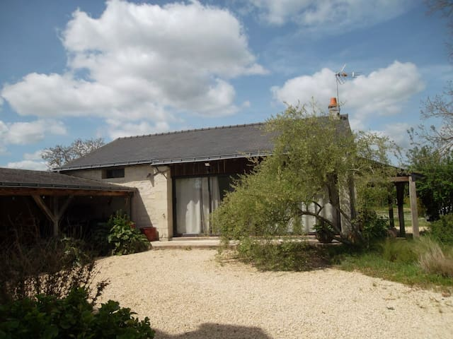 Outhouse with big garden and covered swimming pool - Varennes-sur-Loire - Hus