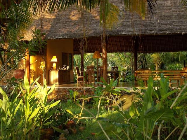 Country Villa Bali with 2 bedroom in 9000qm garden - Pujut - Casa