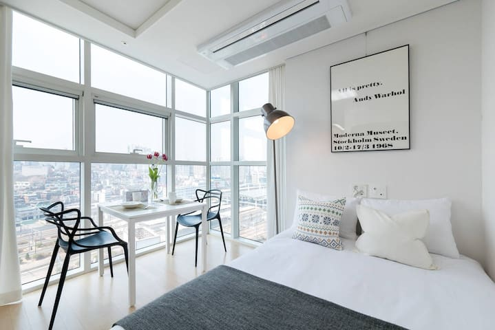 New Open F | Seoul Station | Great View | Free Gym - Yongsan-gu - Casa