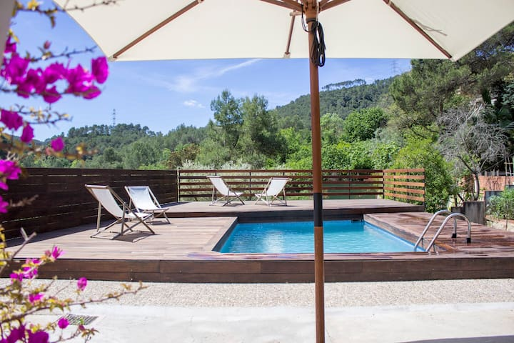 House w/private pool, 20 min of downtown Barcelona - Sant Vicenç dels Horts - Hus