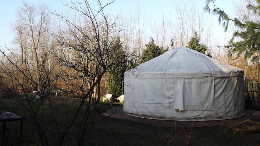 Yurt met natuurgebied de moerputten als tuin - 's-Hertogenbosch - Yurta
