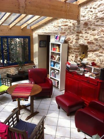 chambre indépendante dans ferme restaurée - Marignac-Laspeyres - B&B
