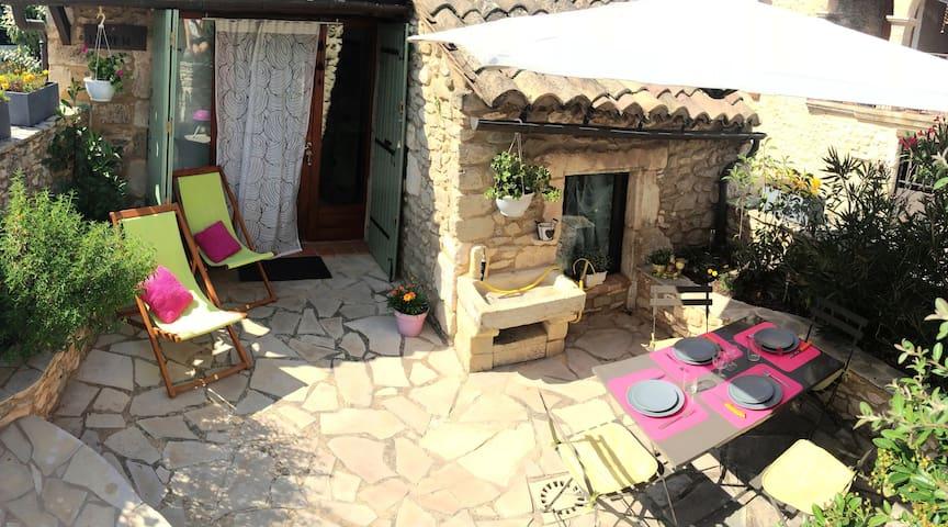 Joli & spacieux mazet de charme - Goudargues - 獨棟