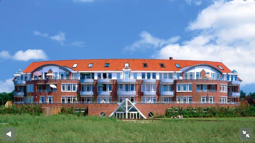 Moderne Wohnung mit Blick auf Deich - Wurster Nordseeküste - Leilighet