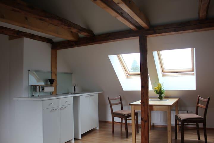 Schlafen unterm Dach - Studio mit Küchenzeile - Kassel - Leilighet