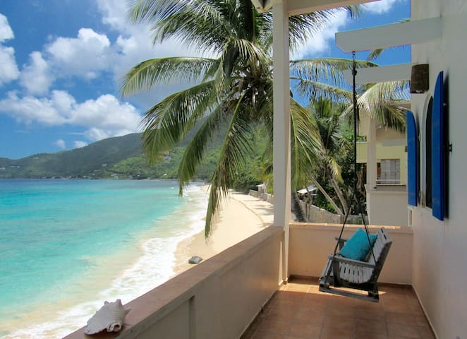 CasaCaribe Oceanfront Loft Apartment With AC! - 托托拉島 - 獨棟