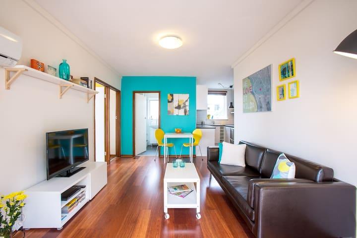 * Modern 2br center StKilda * - St Kilda - Wohnung