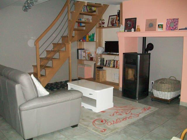 Quite room in landscape - Andigné - Huis
