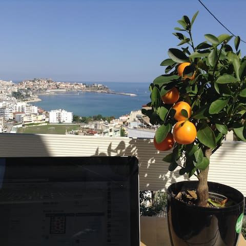 Cozy house with vegetable garden and amazing view - Kavala - Ev