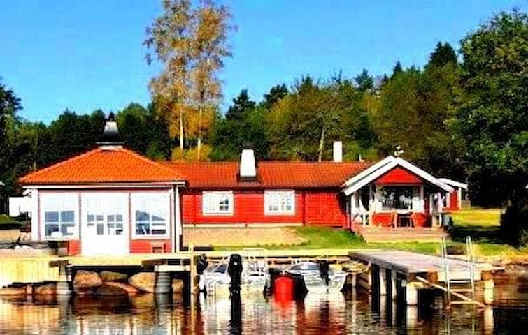 Holiday house directly at lake Sommen - Ydre V - Bungalov